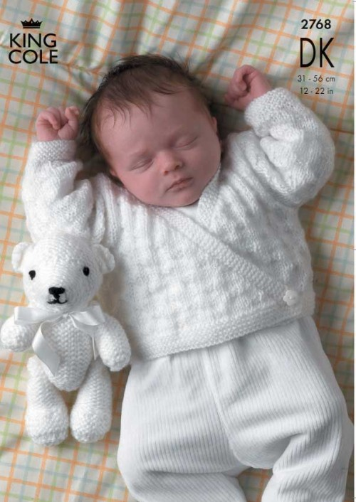 King Cole Teddy Bear Knitting Pattern : King Cole 2768